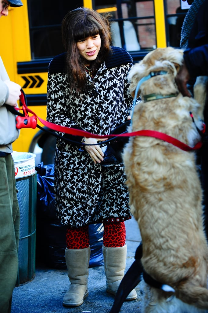 America Ferrera On Ugly Betty Set With Dogs