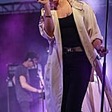 Elly Jackson of La Roux put on an ethereal show on Sunday.
