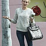 Diane Kruger made funny faces in LA.