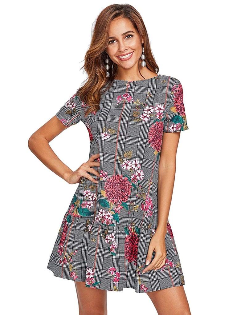 Milumia Plaid Smock Dress