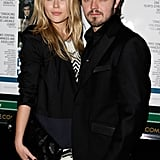 With ex-fiance Matthew Newton at the premiere of Three Blind Mice in Sydney in Sept. 2009.
