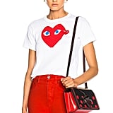 Comme des Garcons Cotton Red Heart Emblem Tee
