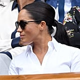 Meghan Markle's Wrap Around Ponytail, 2019