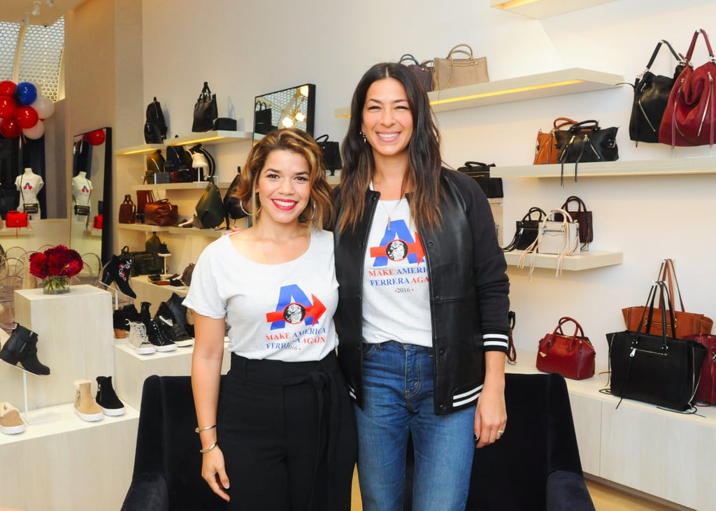 America Ferrera Talking About Her Rebecca Minkoff T-Shirt