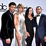 Pictured: Ludacris, Ciara, Russell Wilson, and Eudoxie Mbouguiengue