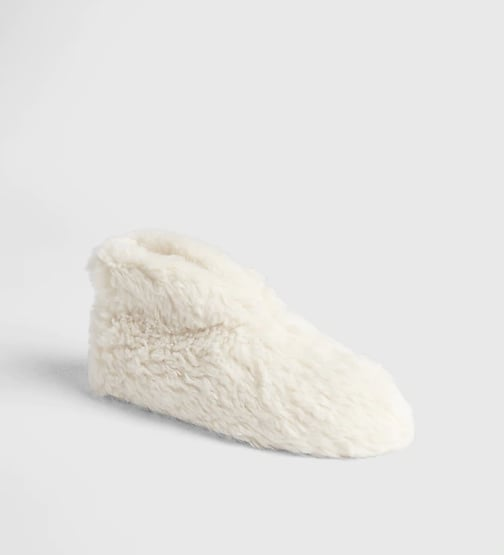 Faux-Fur Boot Slippers