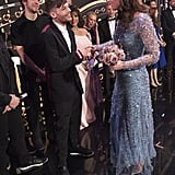 Louis Tomlinson is just one inch shorter than Kate, but her heels give her even more height.