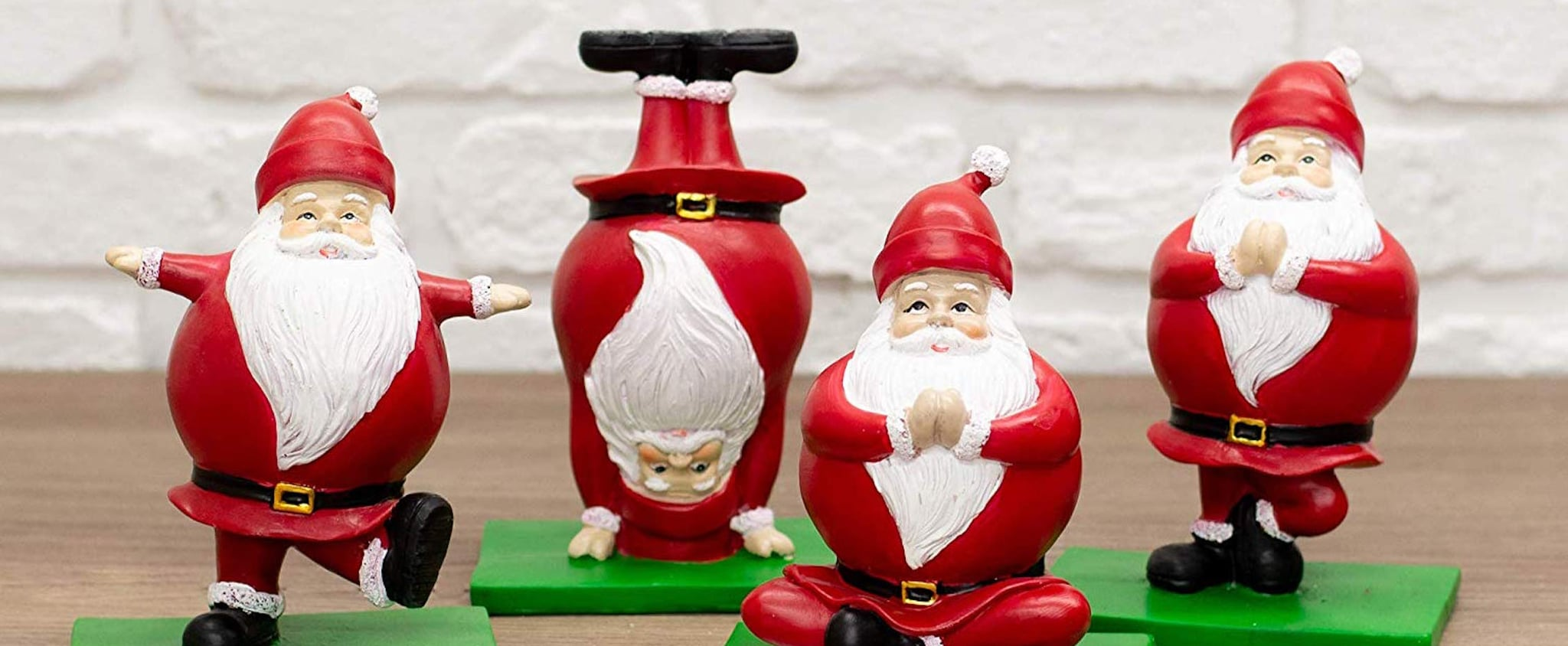 Amazon's Selling the Cutest Yoga Santa Claus Figurines