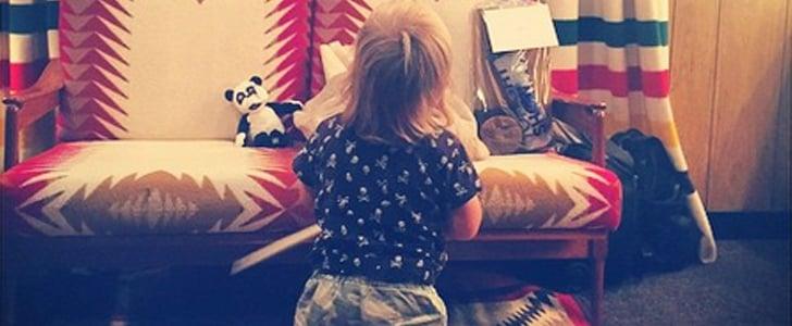Olivia Wilde Posts Picture of Otis Watching Jason Sudeikis