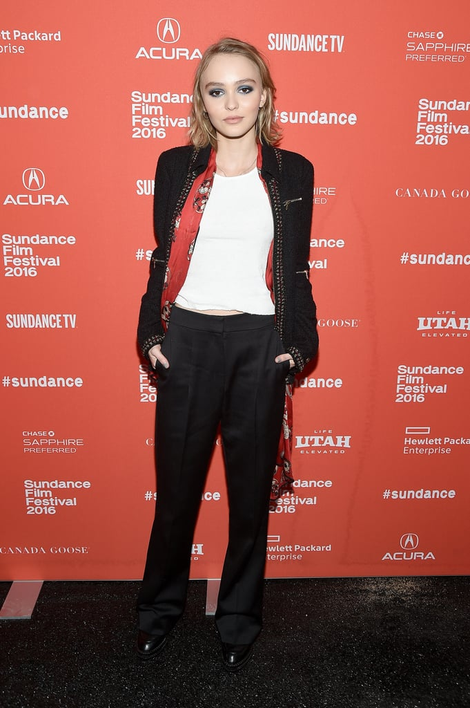 Lily-Rose Dressed Just Like Johnny Depp at Her Sundance Film Premiere