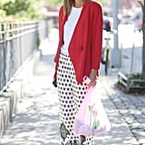 "Give ""pajama pants"" an office-worthy makeover with a sleek blazer up top."