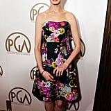 Anne Hathaway attended the Producers Guild Awards.