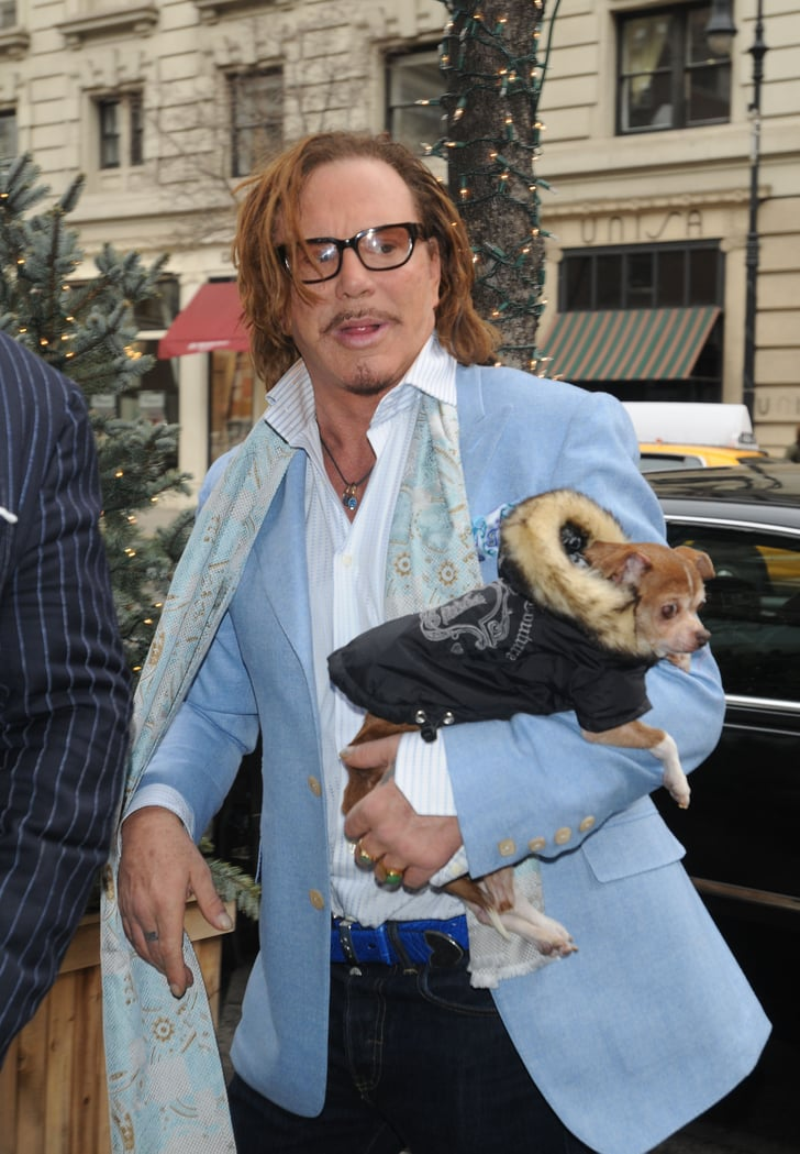 Loki and Mickey Rourke in New York on Feb. 12