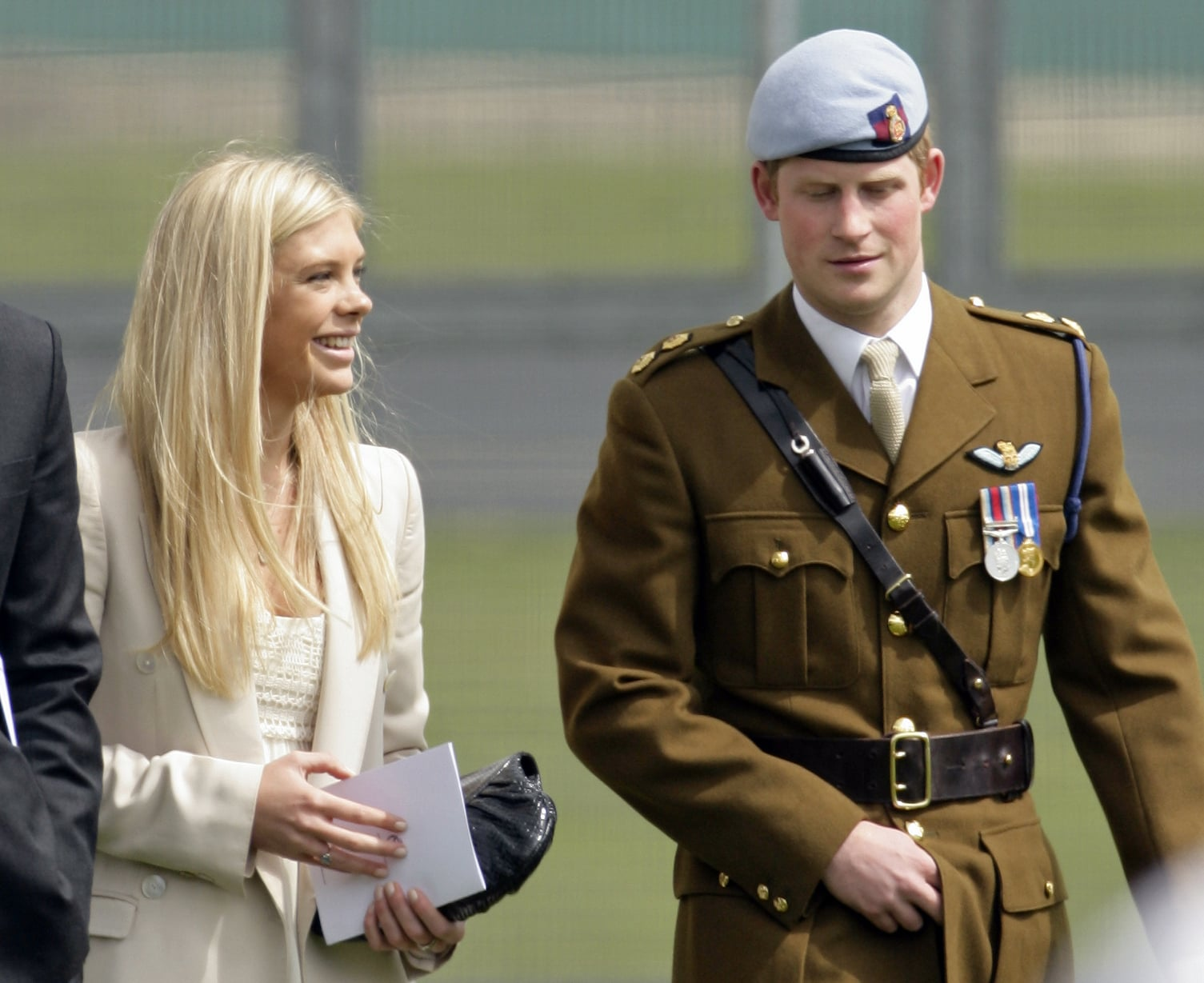 ANDOVER, UNITED KINGDOM - MAY 07: (EMBARGOED FOR PUBLICATION IN UK NEWSPAPERS UNTIL 48 HOURS AFTER CREATE DATE AND TIME) Chelsy Davy and boyfriend HRH Prince Harry attend Harry's Army Air Corps pilots course graduation ceremony at the Museum of Army Flying on May 7, 2010 in Andover, England. (Photo by Indigo/Getty Images)