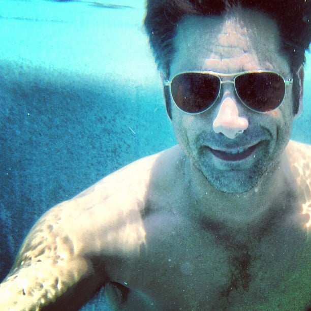 John Stamos celebrated his 50th birthday with some pool time in Mexico. Source: Instagram user johnstamos