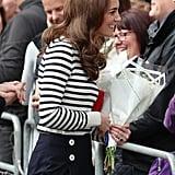 Kate Middleton Striped Shirt May 2019