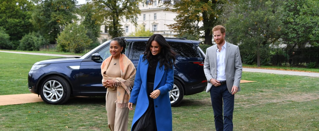 Meghan Markle Blue Coat Cookbook Party