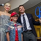 Miley Cyrus helped cut the ribbon for Ryan Seacrest's new studio.