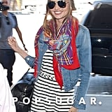 Miranda Kerr Looks Chic to Hit the Runway at LAX