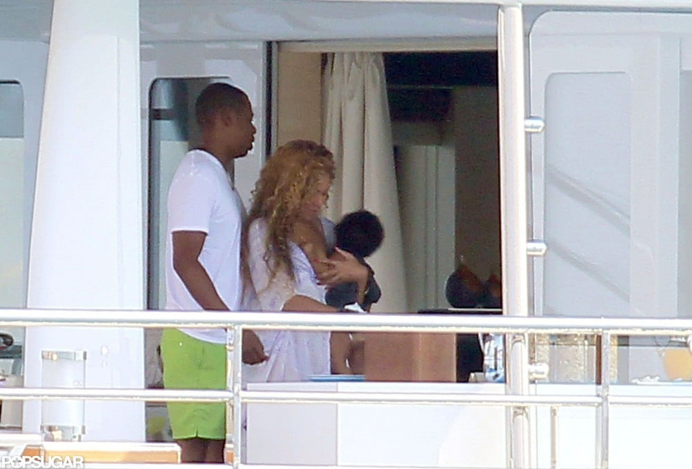 Beyonce With Jay-Z and Blue on a Yacht | Pictures