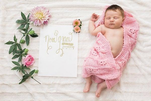 Flower Crown Newborn Photo Shoot