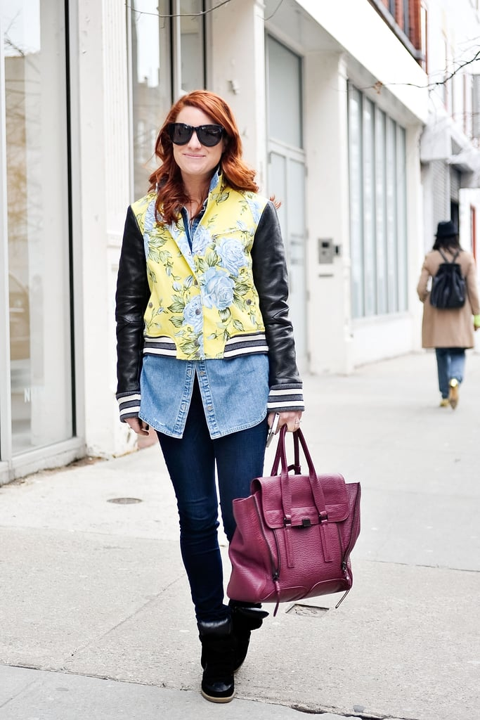 Take note: a floral varsity jacket, like this Rag & Bone version, will make just about anything look cooler.