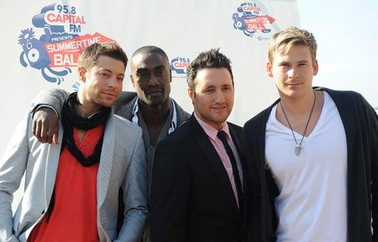 Photos of Duncan James, Simon Webbe, Lee Ryan, Antony Costa as Blue Announce Reunion