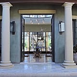 Kourntey's entryway is the definition of grand.