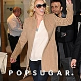 Britney Spears waved to her fans in London.