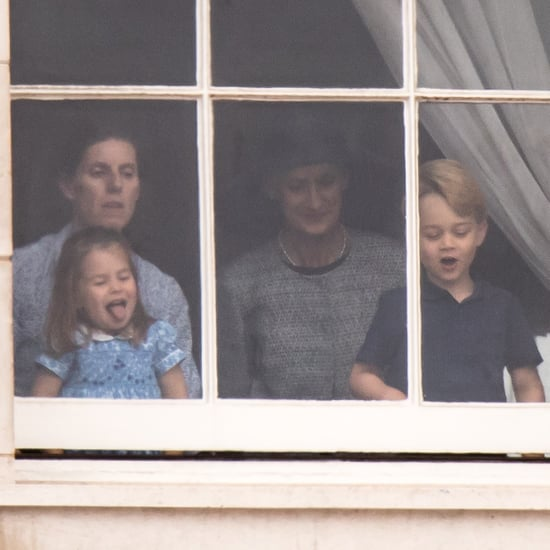 Prince George and Princess Charlotte at RAF Celebration 2018
