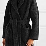 Ganni Belted Wool-Blend Bouclé Coat ($411.02)