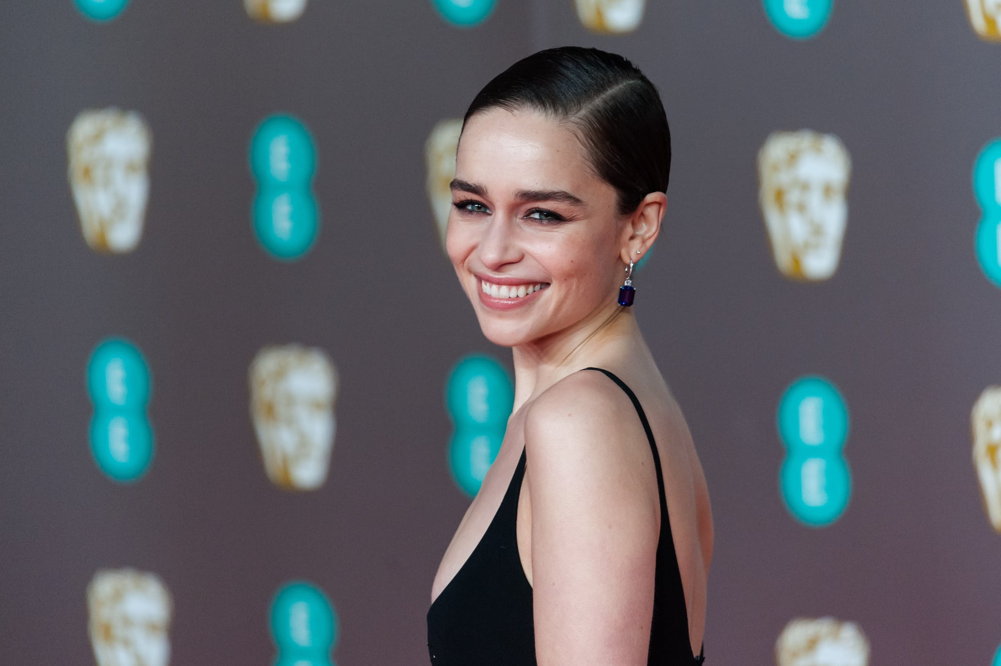 Emilia Clarke attends the EE British Academy Film Awards ceremony at the Royal Albert Hall on 02 February, 2020 in London, England. (Photo by WIktor Szymanowicz/NurPhoto via Getty Images)