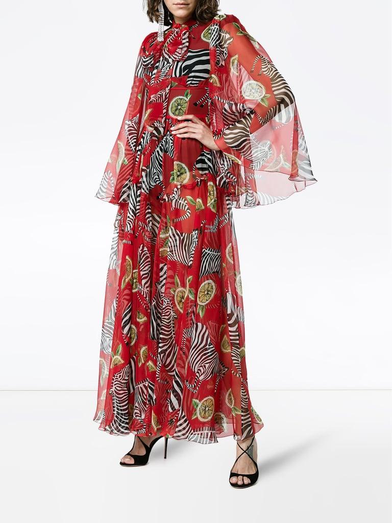 Gabana Dolce zebra dress collection