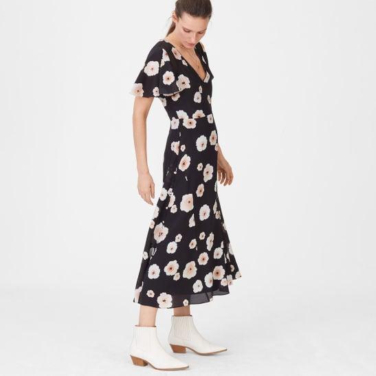 Zameeka Silk Floral Dress