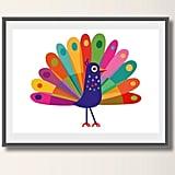 Peacock Nursery Wall Art