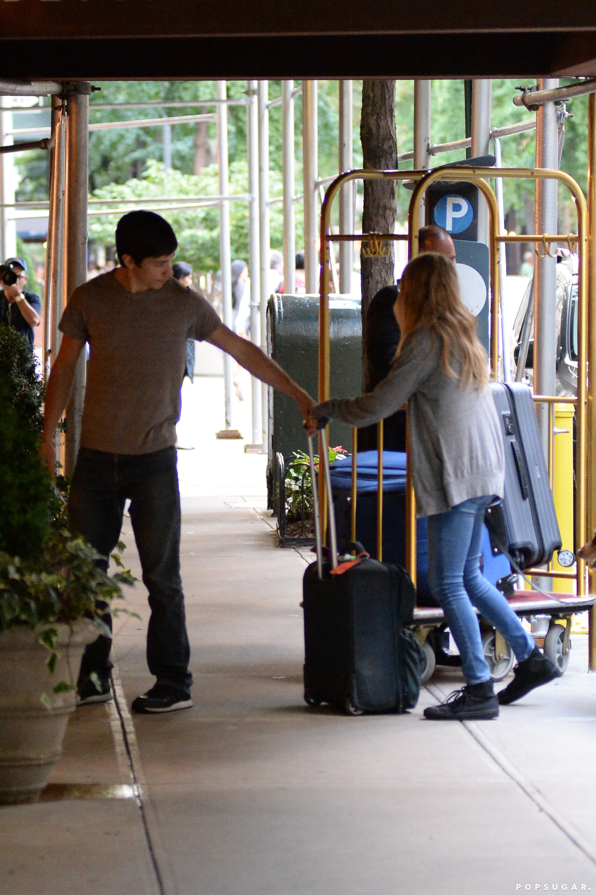 Justin Long and Amanda Seyfried checked into an NYC hotel together.