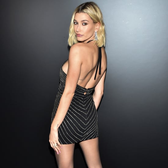 Hailey Bieber's Saint Laurent Minidress in the Front Row