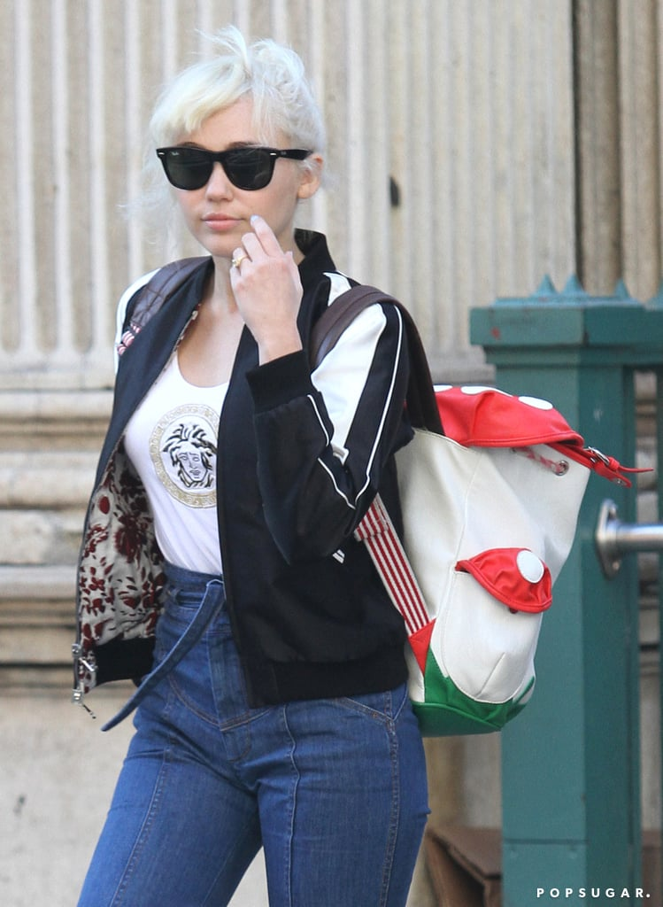 Miley Cyrus Shows Off Her Engagement Ring During a Casual Outing in NYC