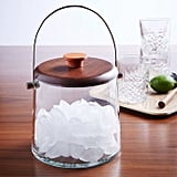 Wood and Glass Ice Bucket