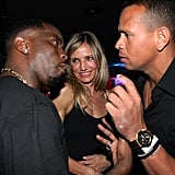 Pictures of Cameron Diaz and Alex Rodriguez at the Super Bowl
