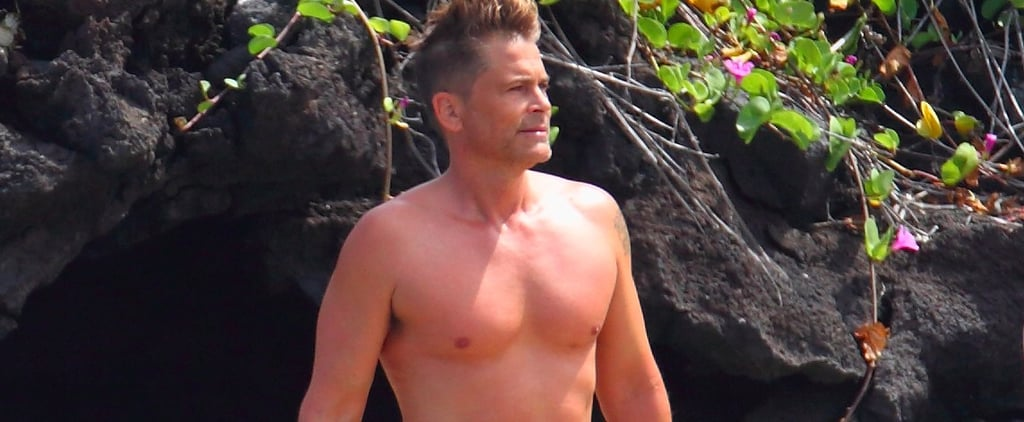 Rob Lowe Shirtless in Hawaii July 2017