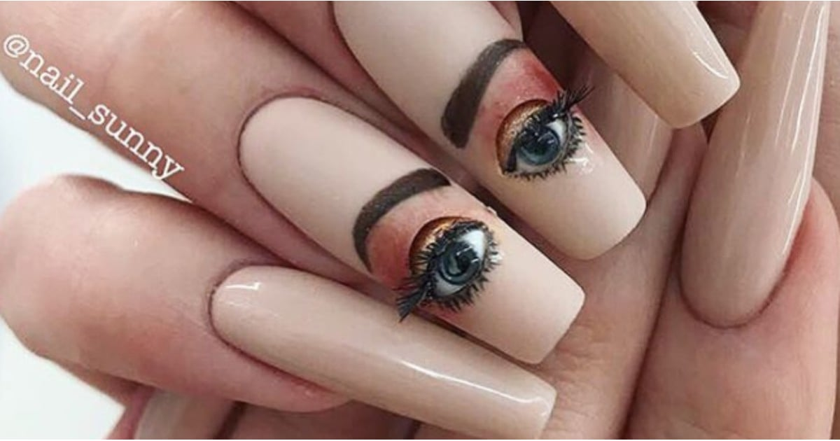 Blinking Eyeball Nails Instagram Trend | POPSUGAR Beauty