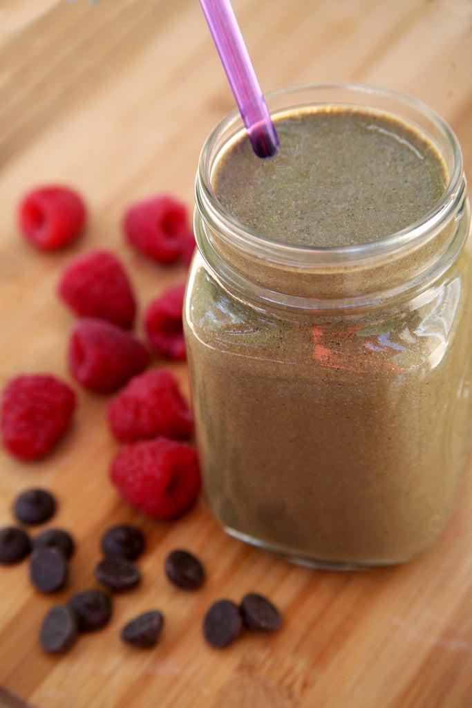 Vegan Chocolate Raspberry Milkshake Smoothie