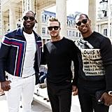 David Beckham at Paris Fashion Week 2016