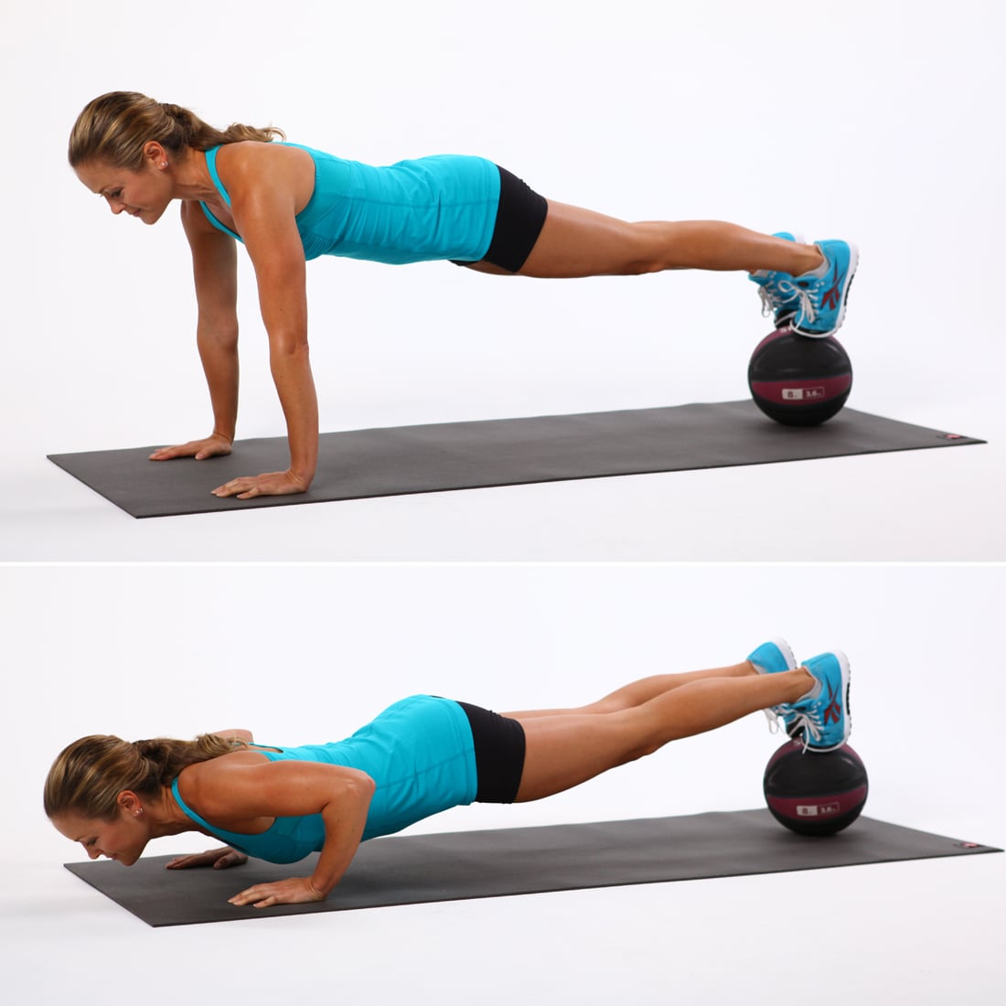 Feet-on-Medicine-Ball Push-Up