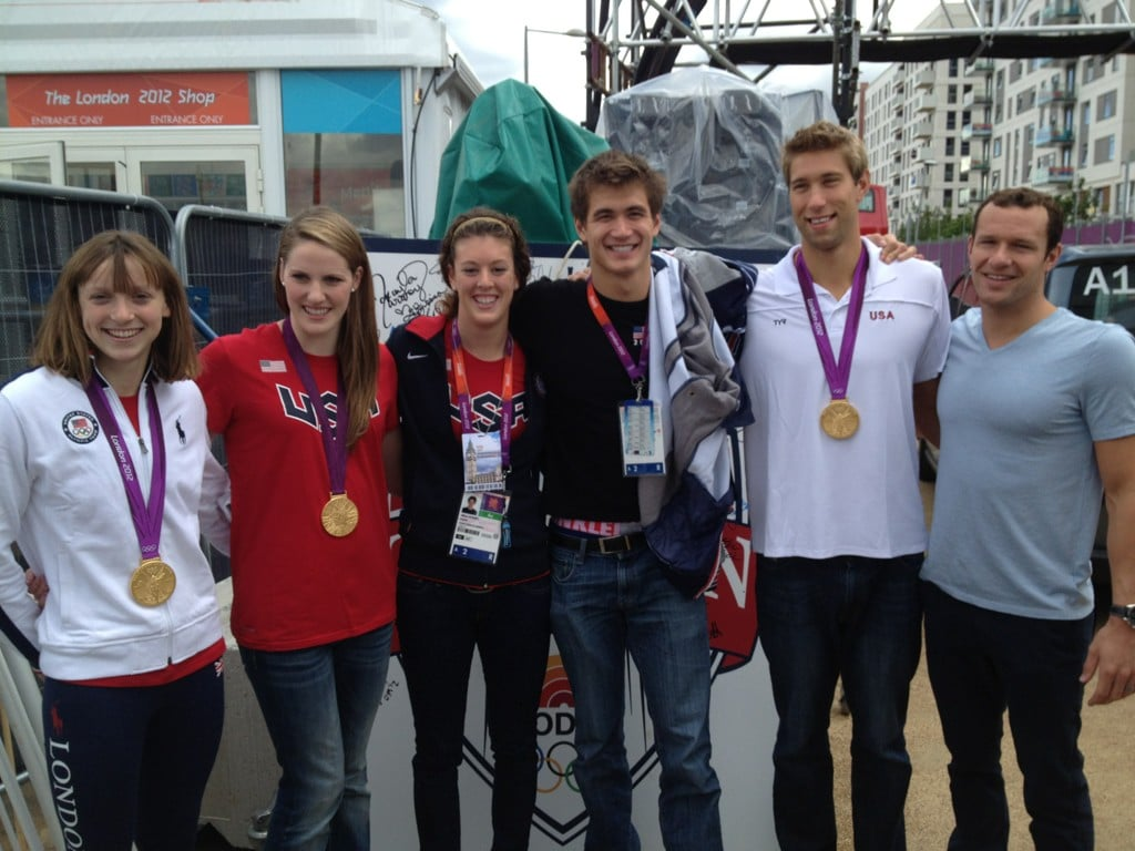 The USA's swim team showed off their new medals. Source: Twitter user eswright