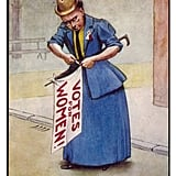 This suffragette nails her colors to the mast.