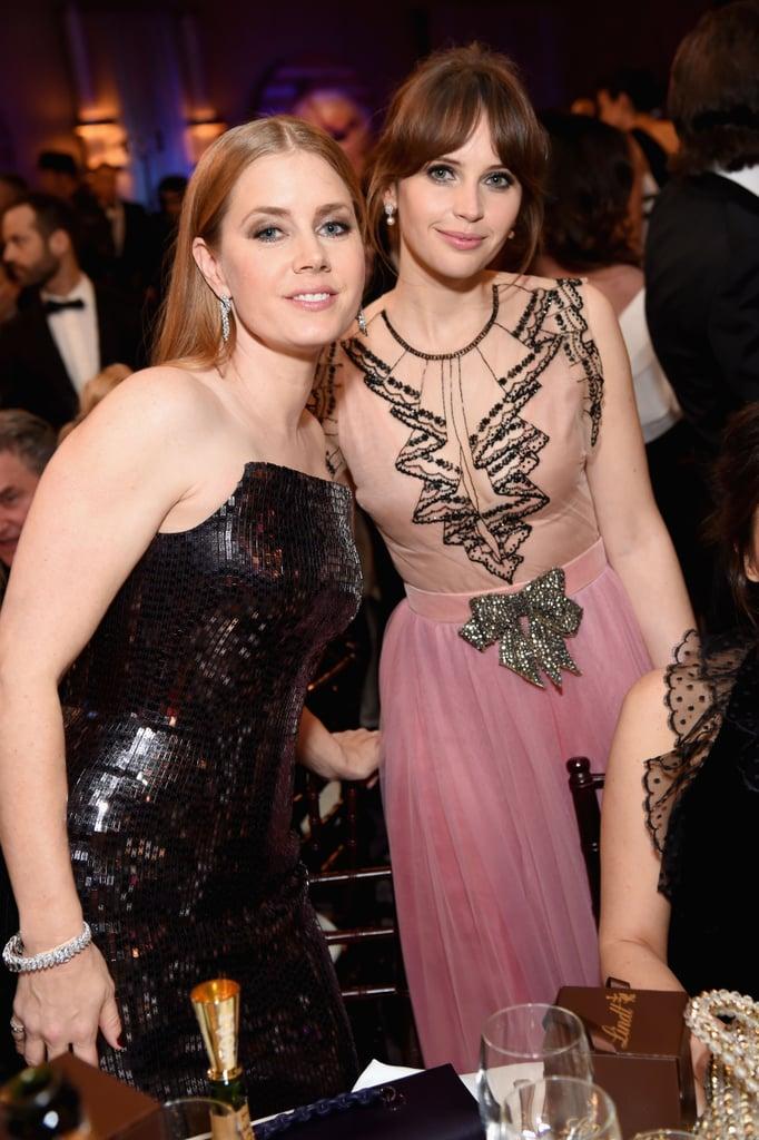 Pictured: Amy Adams and Felicity Jones