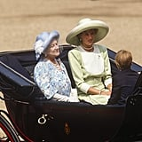 Pictured: Queen Elizabeth the Queen Mother, Princess Diana, and Prince Harry.