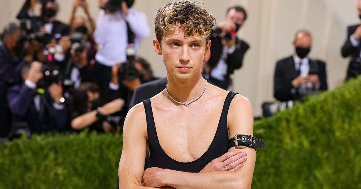 Troye Sivan Made the Met Gala Theme Look Easy in a Sexy Figure-Hugging Tank Dress - POPSUGAR